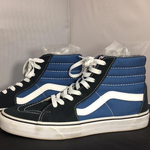 Vans Shoes | Vans Blue Black High Tops